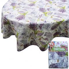 93204 tablecloth round d-150cm, Cotton Lavender