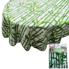 93204 tablecloth round d-150cm, Cotton Bamboo