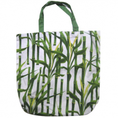 93212 Bag with handles 40 * 35 * 9 cm Cotton Bamboo