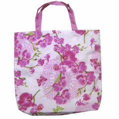 93212 Bag with handles 40 * 35 * 9 cm, cotton Orchid