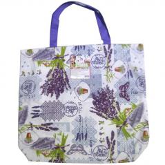93212 Bag with handles 40 * 35 * 9 cm Cotton Lavender