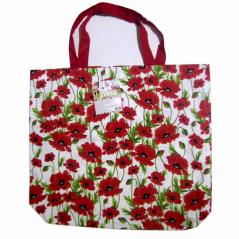 93212 Bag with handles 40 * 35 * 9 cm, cotton Red Poppy
