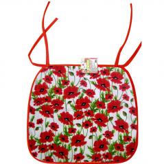 93210 chair pad 35 * 40cm  Red Poppy