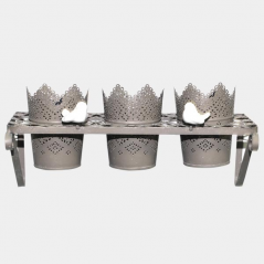 777-015 Stand for flowers Provence, antique gray 35*14*11cm, 11*9cm