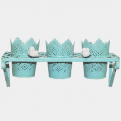 777-018 Stand for flowers in the Provence, antique blue