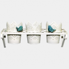 777-016 Stand for flowers Provence, white