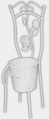 777-035 Decorative pots -chair 45 cm, white