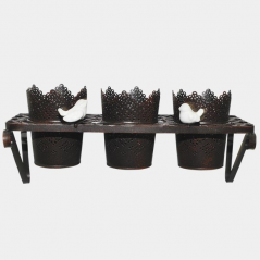 777-019 Stand for flowers Provence Antique Black