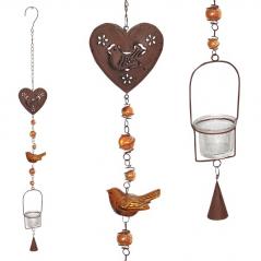 777-005 Подвесной декоративный подсвечник Сердце 86 см