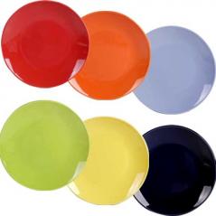 3116-2 Тарелка 10,5 6 цветов Микс