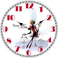 02-352 Часы настенные Леди МДФ 28см
