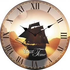 02-372 Часы настенные Морские МДФ 28см