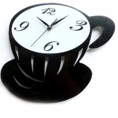 01-224 clock cup of coffee 29 * 25 * 4,6sm