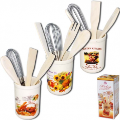 6034-4 Набор кухонных принадлежностей Кантри <a href='http://snt.od.ua/ru/poisk.html?q=Микс' />Микс</a>