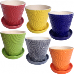 647-026 flowerpots mix 3 12.5 * 12.5 * 12 cm