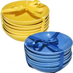 3632-3 Салатник 7 желто-голубой Микс