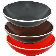 3632-4 Салатник 7, 3 цвета <a href='http://snt.od.ua/ru/poisk.html?q=Микс' />Микс</a> белый ободок