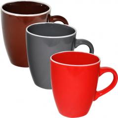 4163-4 Чашка 400 мл 3 цвета <a href='http://snt.od.ua/ru/poisk.html?q=Микс' />Микс</a> белый ободок