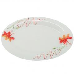 30078-10 Блюдо овальное 12,5 Тигровая лилия
