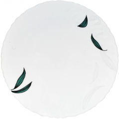 30031-140807 Тарелка 9,5 Зеленый листок