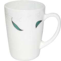 30036-140807 Чашка 350мл Зеленый листок