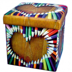 07-019 Padded stool folding 36*36*36cm