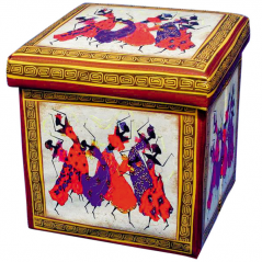07-021 Padded stool folding 36 * 36 * 36cm