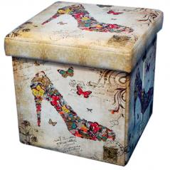 07-027 Padded stool folding 36 * 36 * 36cm