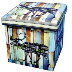 07-033 Padded stool folding 36 * 36 * 36cm