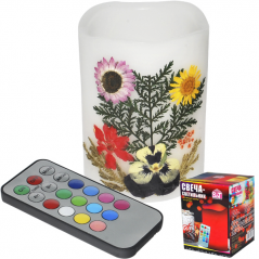 96001 candle-lamp 7.5 х 10cm Herbarium changing colors on the remote