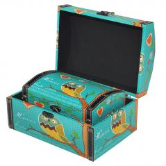 07-035 boxes Owls Set 2pcs, 22 * 15 * 12cm, 18 * 11 * 9cm