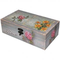 740-024 Шкатулка Весенние <a href='http://snt.od.ua/ru/poisk.html?q=цветы' />цветы</a> бол. 34х19х10,5 см
