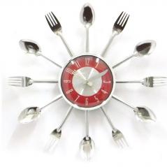 01-220 Spoon wall clock 37 * 37 * 4.5 cm