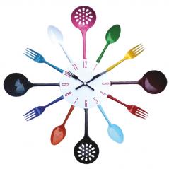 01-054 wall clock cutlery miks4