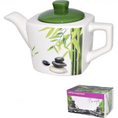 2231-01 Чайник квадратный <a href='http://snt.od.ua/ru/poisk.html?q=Зеленый бамбук' />Зеленый бамбук</a> 840мл