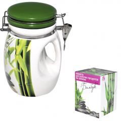 6170 Емкость для сыпучих продуктов на зажиме <a href='http://snt.od.ua/ru/poisk.html?q=Зеленый бамбук' />Зеленый бамбук</a> 1л