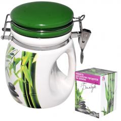 6171 Емкость для сыпучих продуктов на зажиме <a href='http://snt.od.ua/ru/poisk.html?q=Зеленый бамбук' />Зеленый бамбук</a> 840 мл