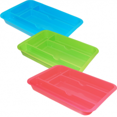 90 863 Tray insert Cutlery 29.5 * 20,4sm, 3 colors Mixed
