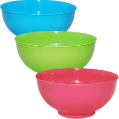 90818 round salad 25.5 * 12.5 cm / 3.8 L, 3 colors Mixed