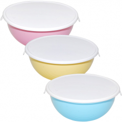 90,823 Capacity of storage round with lid 15 * 14 * 5,5sm / 0,45l 3 colors Mixed