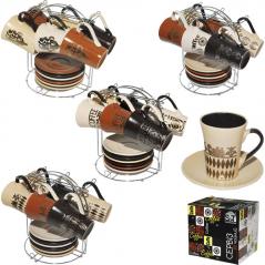1464 Сервиз чайный 12ел. (блюдце 13см, чашка 180мл.)
