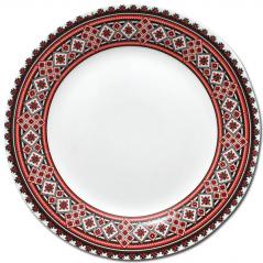 30001-004 Тарелка 8 'Вышиванка красное и черное