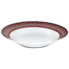 30003-004 Тарелка суп 8 'Вышиванка красное и черное