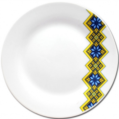 30000-006 Тарелка 7 'Вышиванка желто-<a href='http://snt.od.ua/ru/poisk.html?q=голубой' />голубой</a> ромб