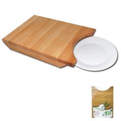 8903 Доска кухонная под тарелку 22 * 33 см (h-4,5см)