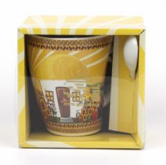 20605 Чашка с ложкой 350мл Наши традиции / Хатынка