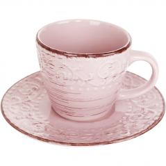 6112 Чашка с блюдцем 280мл Античная розовая