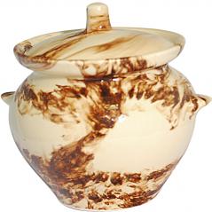 81-450-012 Горшок для запекания 0,45л Мрамор коричневый