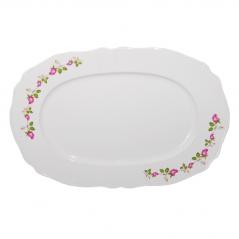 83-30-01 Блюдо белое с деколью 30см