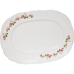 83-30-02 Блюдо белое с деколью 24 см